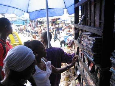 Entrance to Ebinpeju Lane, Idumota Market, Lagos--the original heart of Nollywood's distribution system