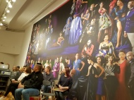 "Audience with monumental photograph ""The School of Nollywood"""