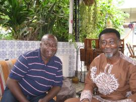 Directors Zeb Ejiro (left) and Bond Emeruwa, Brazil, 2012