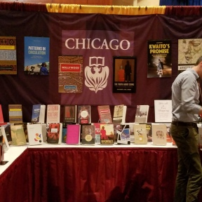 University of Chicago Press booth, African Studies Association Annual Meeting, 2016 with Connor Ryan