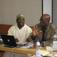 Abdalla Uba Adamu and Biodun Jeyifo, Nollywood and Beyond conference, Mainz, 2009