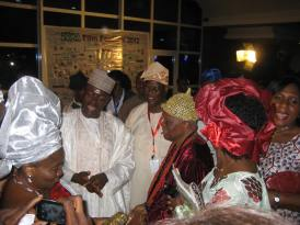 Zuma Film Festival 2012, Abuja: Minister of Information and Culture Labaran Maku, MD of the NFC Afolabi Adesanya and Oba Olusanya Dosunmu