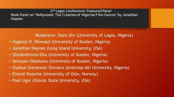 2nd Lagos Conference Book Panel